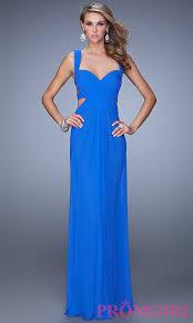 long sweetheart open back la femme prom gown