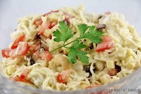 cuisiner le chou blanc en salade recette salade au chou blanc la cuisine familiale un plat une