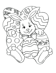 Free Printable Easter Coloring Pages For Sunday School Adults Easy Bunny Eggs