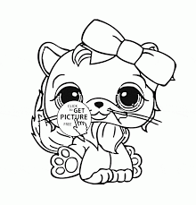 Cute Animal Coloring Pages Littlest Pet Shop Zoe Page For Kids