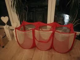 wäschepuff wäscheaufbewahrung wäschesack 3 fächer wäschekorb