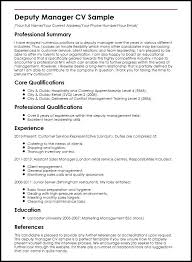 Cv Examples For Marketing Manager Combined With Deputy Sample Prepare Stunning Uk 274