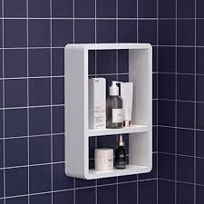 kungyo schichten kunststoff würfel badezimmer wandregal weiß saugwand schwimmende regal küche schlafzimmer speicherorganisation selbstklebend ohne