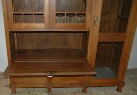 antik teakholz teak schrank jugendstil esszimmer wohnzimmer