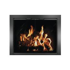 Fireplace Glass Doors For Wood Burning Fireplaces Brick Anew