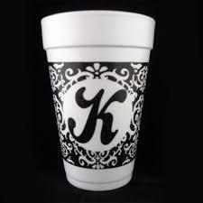 Damask Wrap Initial Styrofoam Cup – CrazyAboutCups