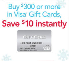 Expired Save $10 on $300 in Visa Gift Cards at fice Max