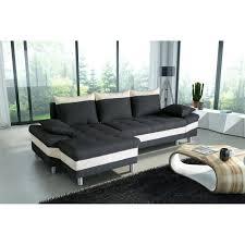 canape convertible noir et blanc pegase canapé d angle gauche convertible 4 places tissu noir et