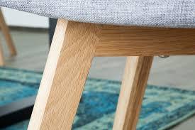 esszimmerstuhl stuhl strukturstoff grau eiche mit armlehne