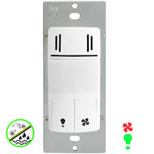 Humidity Sensing Bathroom Fan With Led Light by In Wall Humidity Motion Detector Switch Topgreener