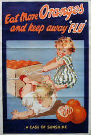 Original Vintage Posters Advertising Eat More Oranges