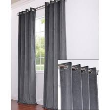 ikea sanela charcoal gray curtains 2 panels blackout cotton velvet