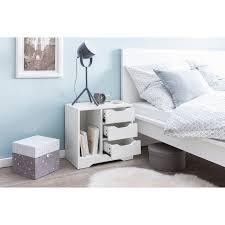 wohnling nachtkonsole wl5 708 49x50x30 cm weiß matt 3 schubladen 1 ablagefach weisse nachtkommode mit stauraum nachttisch schlicht modern