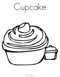 Cupcake Coloring Book Birthday Cupcake Coloring Color Page Printable