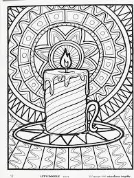 Christmas Coloring Pages For Simple Adult