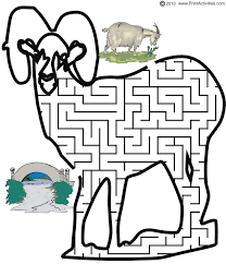 Printable Billy Goats Gruff Maze Guide The Goat To Bridge