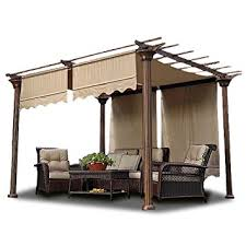 outdoor waterproof patio shades 2pcs 15 5x4 ft pergola shade canopy replacement