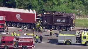 100 Rubbish Truck Garbage Truck Driver Critical After Crash On I94 In Romulus
