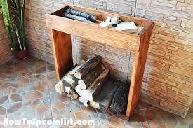 diy indoor firewood rack myoutdoorplans free woodworking plans