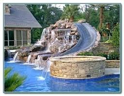 Banzai Water Slide In Ground Pool Water Slide Inground Pool Slides