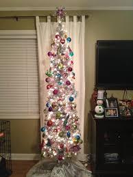 Silver Pre Lit Pop Up Christmas Tree by Shimmering Silver Artificial Pencil Christmas Tree Treetopia