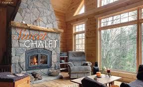 104 Wood Homes Magazine Sweet Chalet Confederation Log Timber Frame
