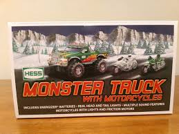 100 2007 Hess Truck BRAND NEW HESS MONSTER 4x4 TRUCK WITH 2 MOTORCYCLES MINT