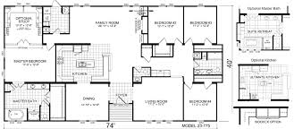 Fleetwood Triple Wide Mobile Home Floor Plans by Download Triple Wide Manufactured Home Plans Adhome