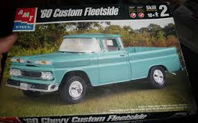 AMT 1960 CHEVY CUSTOM FLEETSIDE PICKUP TRUCK MODEL CAR MOUNTAIN KIT ...