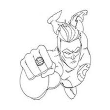 Donatello Superhero Hal Jordan Coloring Pages