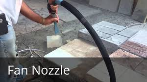 Dustless Tile Removal Houston by Csc Fan Nozzle Vs Round Youtube