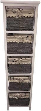 slim 3 4 5 schublade mais korb weiß holz schrank aufbewahrung organizer badezimmer 5 drawer