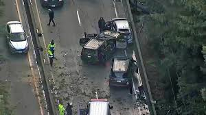 100 Ups Truck Accident MultiVehicle Fatal Crash Shuts Down NB Highway 17 CHP NBC Bay Area