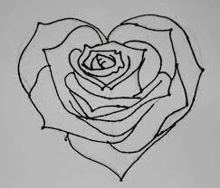 Art Drawings Of Hearts And Roses