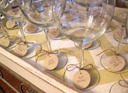 DIY Drinks Tags For Wine Glasses