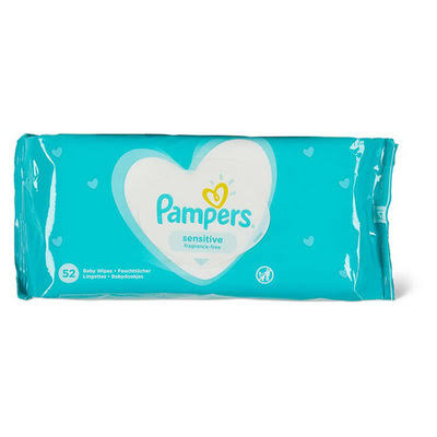 Pampers Sensitive Baby Wipes - 52ct