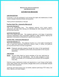 Auto Body Technician Resume Best Of Maintenance Objective Examples Sample Objectives For