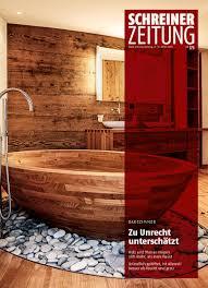 schreinerzeitung on holz bringt wärme ins bad