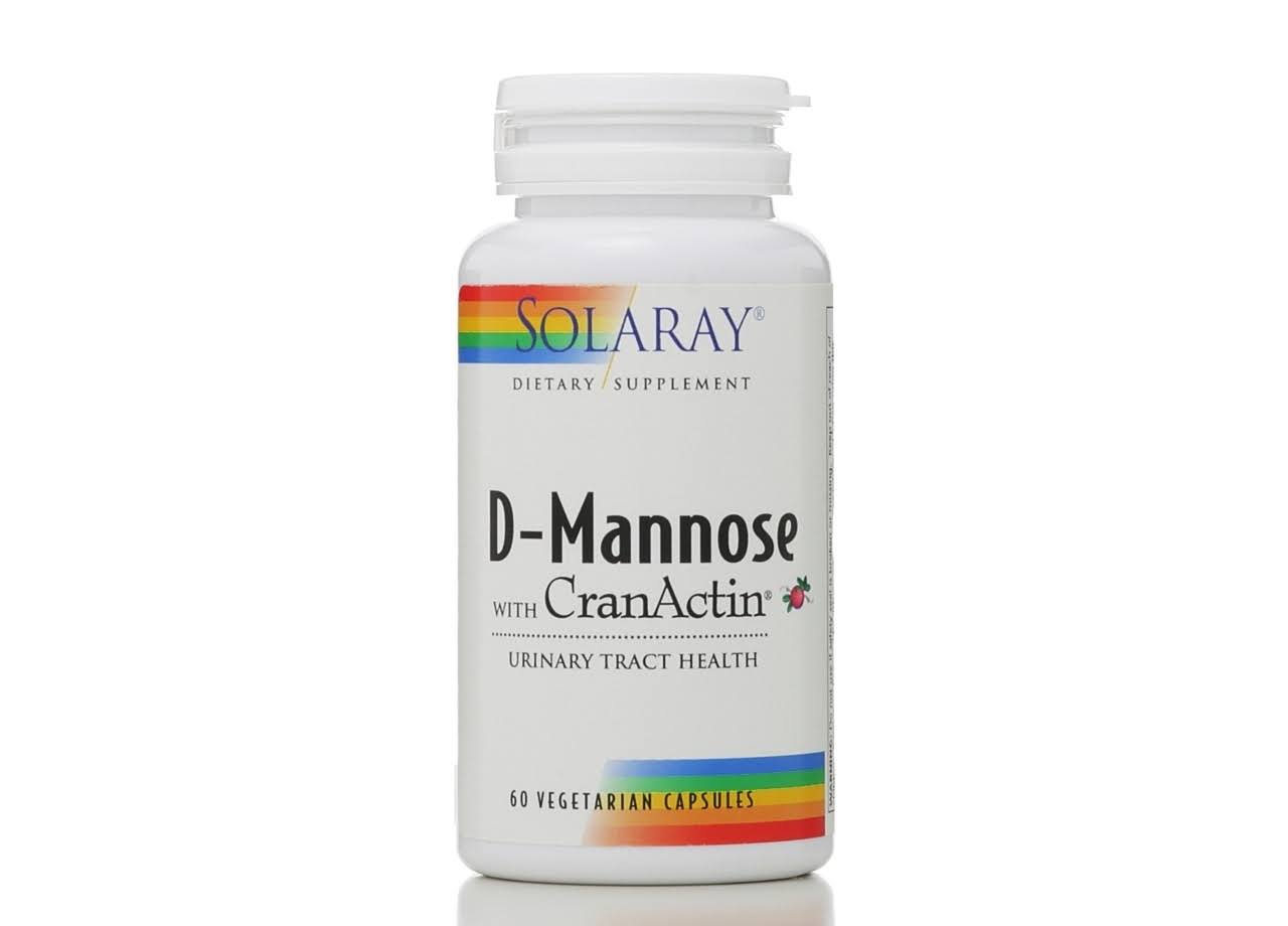 Solaray D-Mannose with CranActin Supplement - 60 Capsules