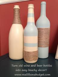 Decorative Wine Bottles Ideas by Upcycled Wine Bottle Centerpieces With Burlap By Bottlesbybirdie