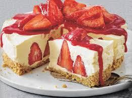 erdbeer vanille frischkäsetorte backraum24 backrezepte
