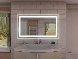 badspiegel mit beleuchtung portau m106l4 design spiegel für badezimmer beleuchtet mit led licht modern kosmetik spiegel toiletten spiegel bad