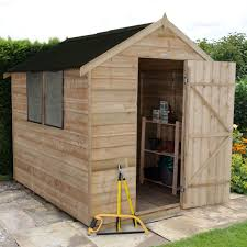 6x8 Saltbox Shed Plans by 8x6 Apex Overlap Wooden Shed With Assembly Service Base Included