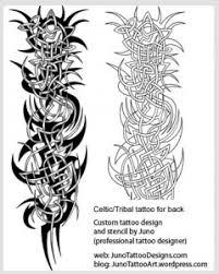 Celtic Tree Tattoo Scotish Half Sleeve Design Scottish Tribal For Back Template