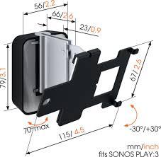 Sonos Ceiling Speakers Australia by Sound 4203 Speaker Wall Mount For Sonos Play 3 Black