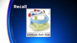 lexibook baby bath seats chairs recalled due to drowning hazard