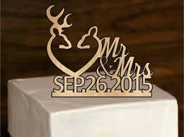 Fall Sale Rustic Deer Wedding Cake Topper