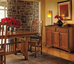Craftsman Style Dining Room Table Mission Amusing Lighting Trestle By