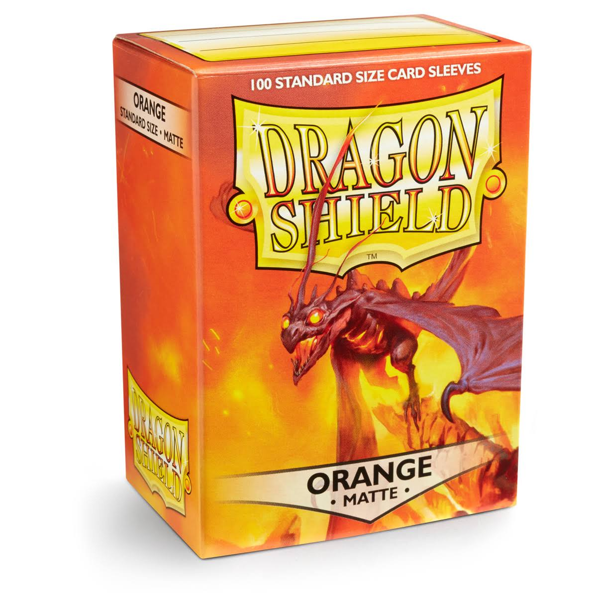Dragon Shield Sleeves: Matte Orange, Box Of 100