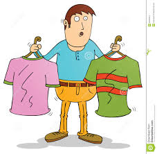 Choosing Clothes Illustration Of Cartoon Stock Images